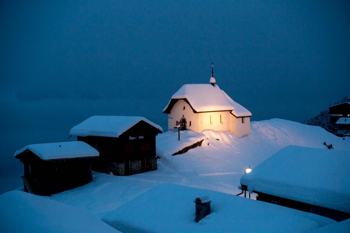 het iconische kerkje 'Maria zum Schnee'