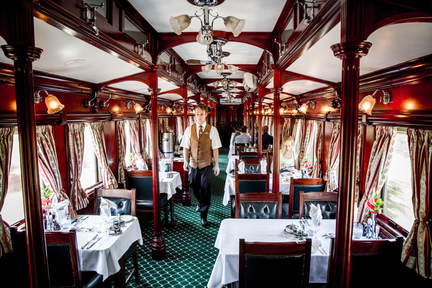 Rovos Rail dining carriage
