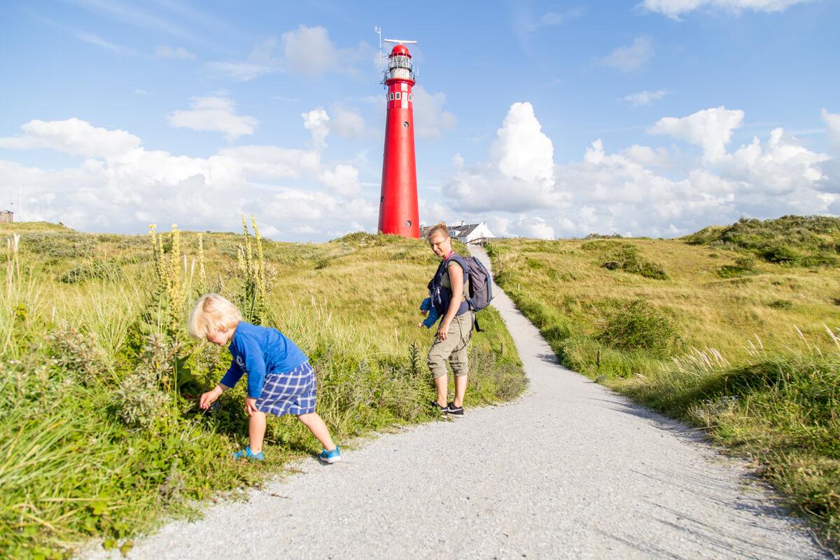 Vuurtoren waddeneiland Schiermonnikoog