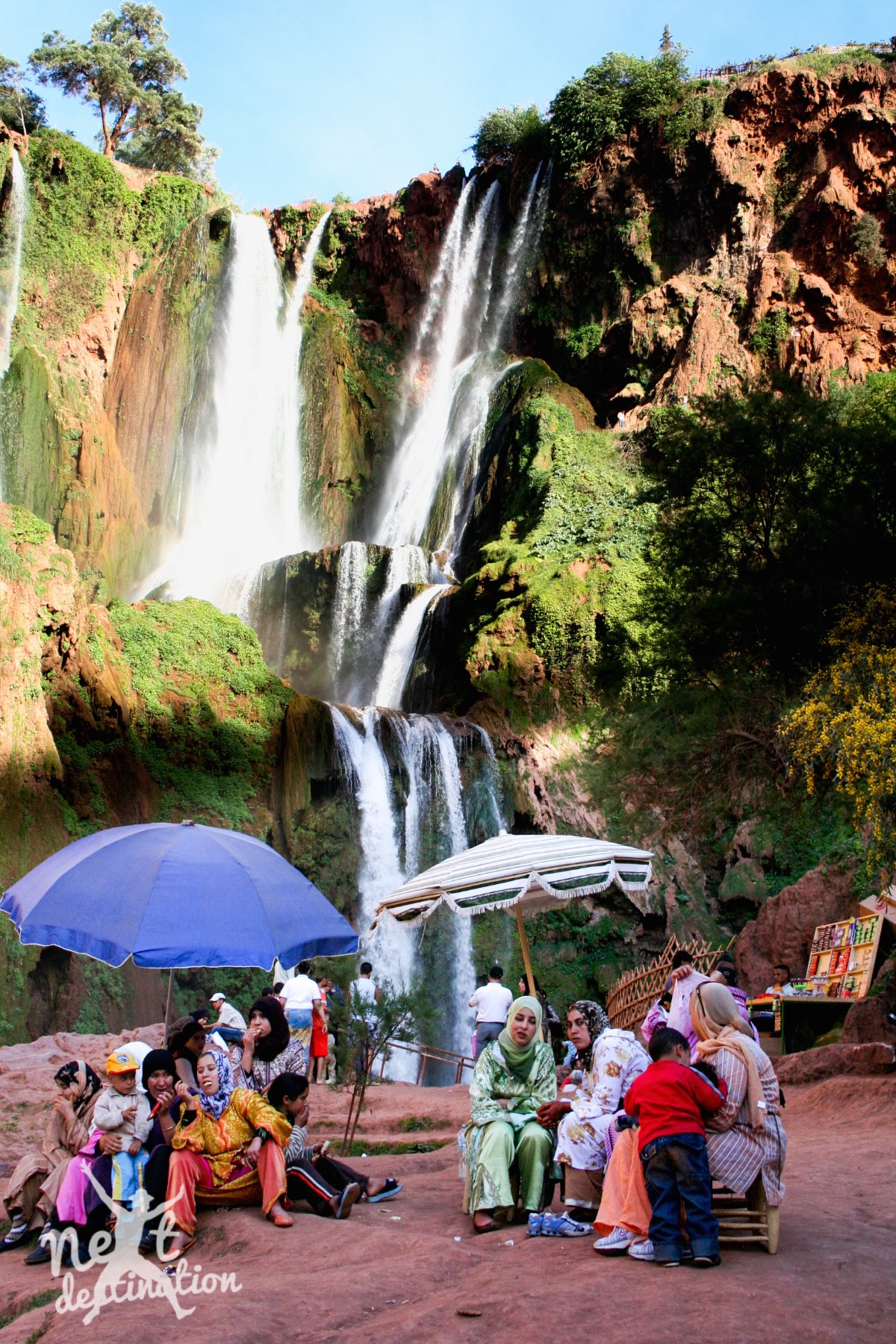 watervallen van Ouzoud, populair gezinsuitje kopie_marokko