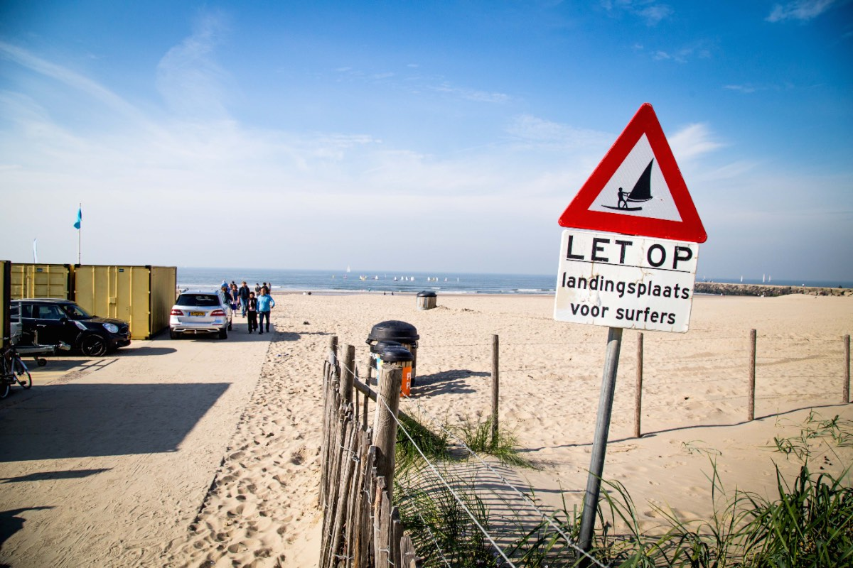 't strand is voor golf-, kite- en windsurfen